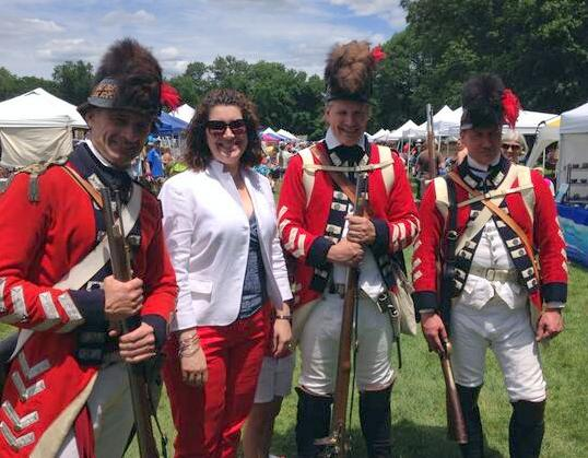 Rep. Benson enjoying Fifer's Day in Boxborough