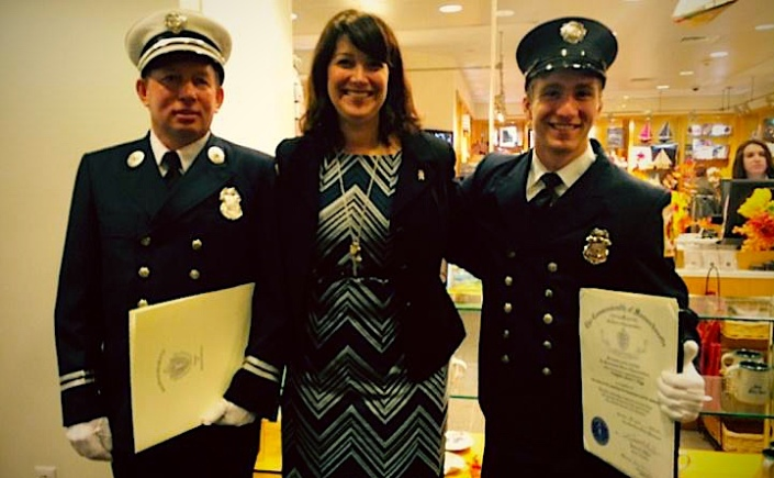 Rep. Benson honors firefighters