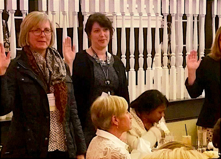 Rep. Benson sworn into Women in Government leadership