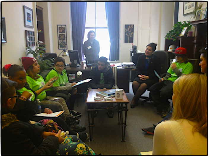 Rep. Benson meeting with Boys and Girls Club members