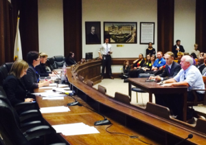 Chairing a hearing of the Joint Committee on Consumer Protection & Professional Licensure