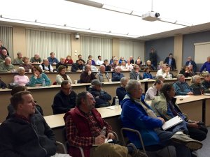 The audience at the solar forum I hosted in Acton with Rep. Cory Atkins.