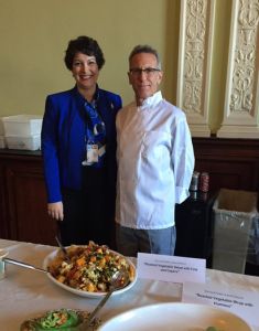 With Bromfield School Chef Paul Correnty at an event highlighting nutritious, healthy school food.