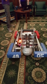 Andromeda One's robot for 2015-2016 school year, named Merlin.