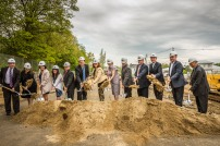 Ground breaking for the Ayer Commuter Rail Parking Facility