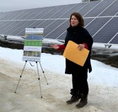 Celebrating a new solar project in the district