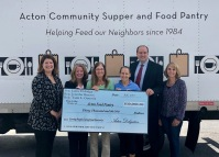 Presenting funding to the Acton Community Supper and Food Pantry
